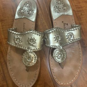 Gold Jack Rogers Size 7